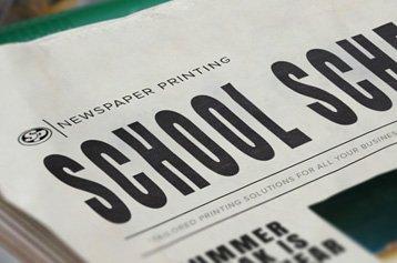 School Schedule Newspaper Printing